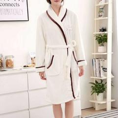 法兰暖绒睡袍-女款 均码 奶白