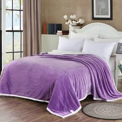 双层波浪复合毯 200×230cm 淡紫
