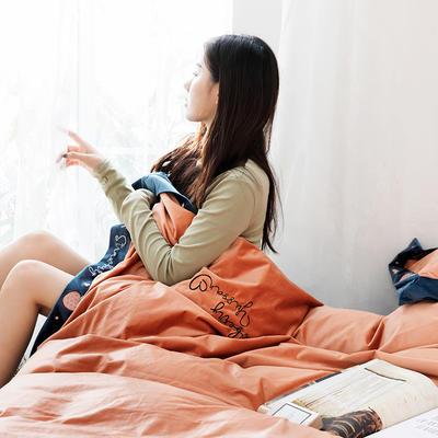 2019新款丽丝绒刺绣系列四件套 小抱枕/个 焦糖草莓