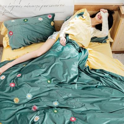 2019新款丽丝绒刺绣系列四件套 小抱枕/个 秘密花园