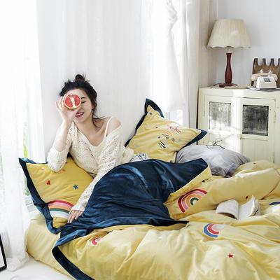 2019新款丽丝绒刺绣系列四件套 小抱枕/个 魔幻岛