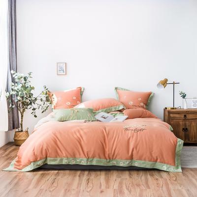 2019新款四件套-雅致生活(棚拍图) 小抱枕/个(含芯) 雅致生活-珊瑚橙