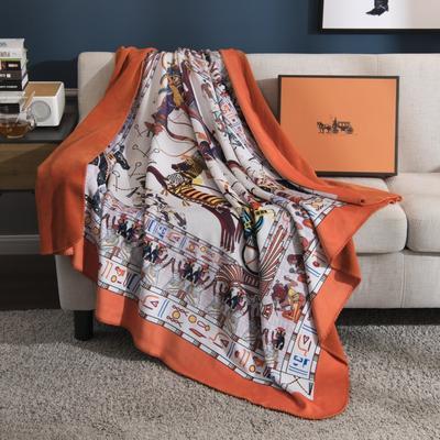 2018新款-水晶绒金丽绒多用途专版毛毯 150*150cm 阿波罗