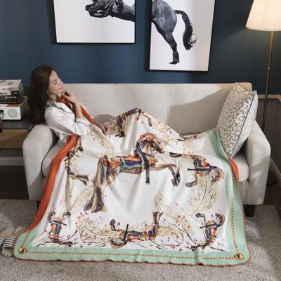 2018新款-水晶绒金丽绒多用途专版毛毯 150*150cm 奥斯曼