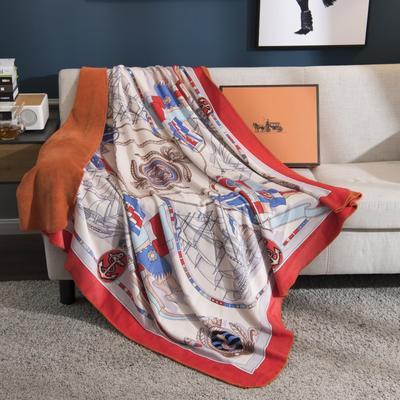 2018新款-水晶绒金丽绒多用途专版毛毯 150*150cm 哥伦布