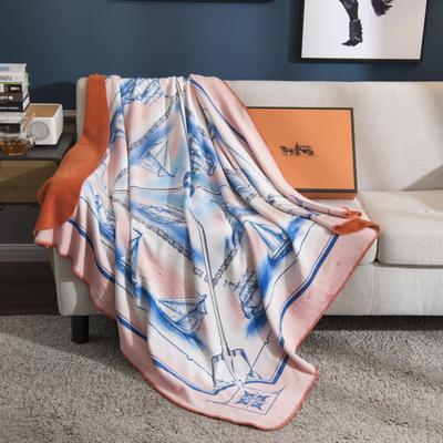 2018新款-水晶绒金丽绒多用途专版毛毯 150*150cm 夏洛特