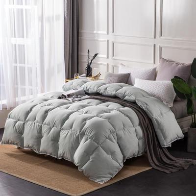 彩棉暖绒冬被 220x240cm8斤 薄荷绿
