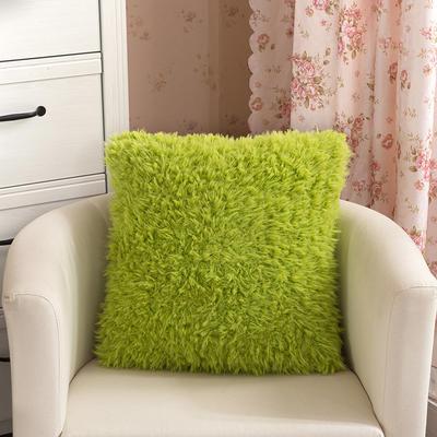 靠背系列(山羊绒系列-山羊绒方形抱枕) 45x45cm 果绿