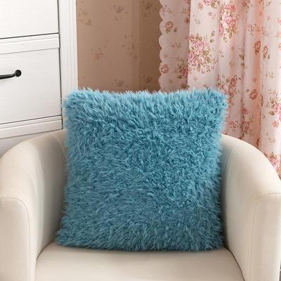 靠背系列(山羊绒系列-山羊绒方形抱枕) 45x45cm 湖蓝