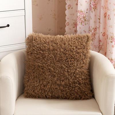 靠背系列(山羊绒系列-山羊绒方形抱枕) 45x45cm 咖啡