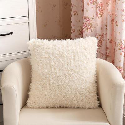 靠背系列(山羊绒系列-山羊绒方形抱枕) 45x45cm 米白