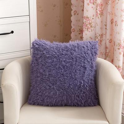靠背系列(山羊绒系列-山羊绒方形抱枕) 45x45cm 深紫