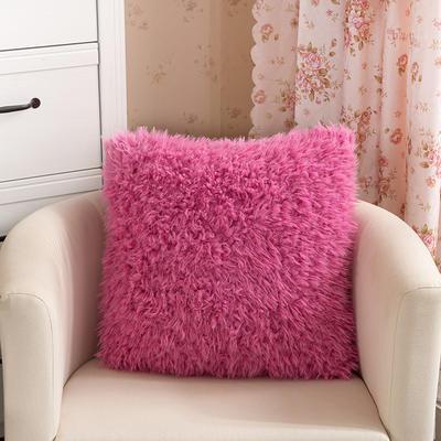 靠背系列(山羊绒系列-山羊绒方形抱枕) 45x45cm 桃红