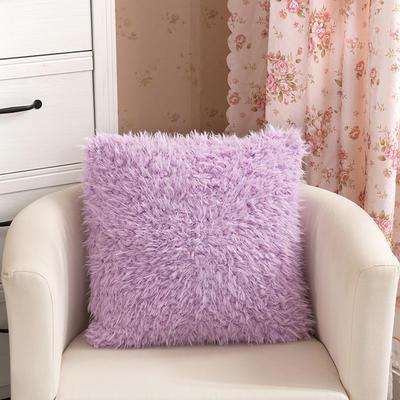 靠背系列(山羊绒系列-山羊绒方形抱枕) 45x45cm 雪青