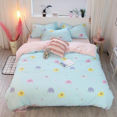 全棉双层纱系列四件套(床单款/床笠款) 床单款1.2m(4英尺)床 象
