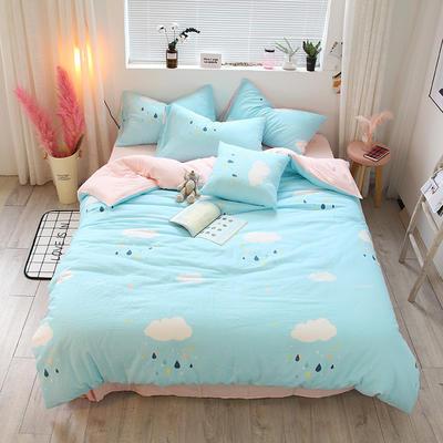 全棉双层纱系列四件套(床单款/床笠款) 床单款1.2m(4英尺)床 云朵