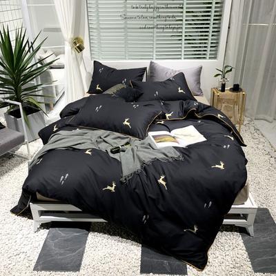 2019新款-轻奢印花系列四件套(实拍图) 1.5m(5英尺)床 麋鹿