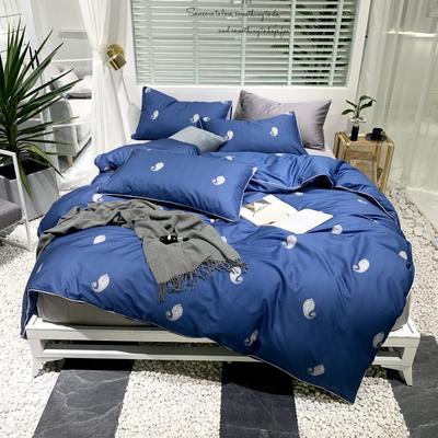 2019新款-轻奢印花系列四件套(实拍图) 1.5m(5英尺)床 枕梦