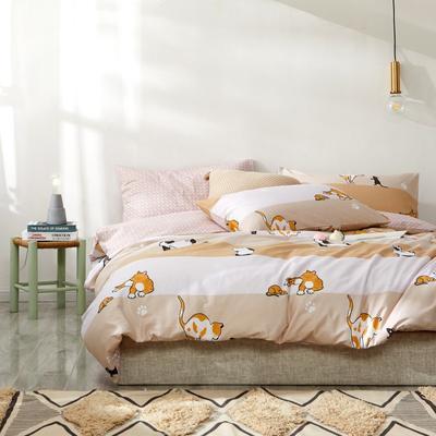 2019新款-星空系列四件套 三件套1.2m(4英尺)床 房东家的猫