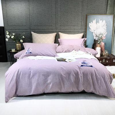 2019新款-肌理磨毛四件套【印加绣】 床单款1.8m(6英尺)床 帆船-咖