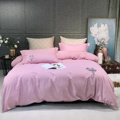 2019新款-肌理磨毛四件套【印加绣】 床单款1.8m(6英尺)床 华夫格-玉