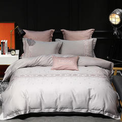 60长绒棉系列四件套 靠枕一对60*60cm(不含芯) 雅莹(银灰)