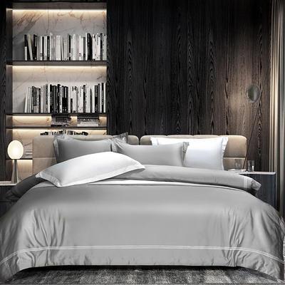 2020新款80S双股埃及长绒棉四件套-洽淡时光 1.5m床单款 恰淡时光 灰色