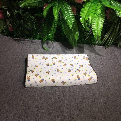 2018新款枕芯儿童乳胶枕 26*44cm(只) 兔宝