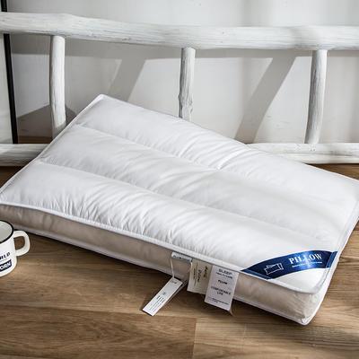 2018新款全棉区位羽丝绒枕  74*48cm 区位枕(横条)