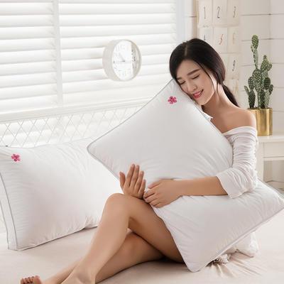 2018新款樱花羽丝绒枕枕头枕芯 48*74 低枕