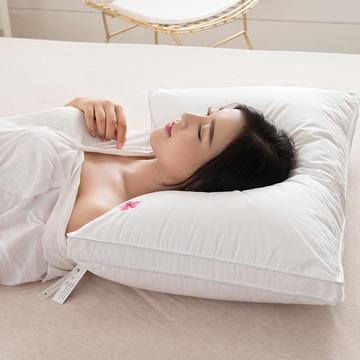 2018新款樱花羽丝绒枕枕头枕芯 48*74