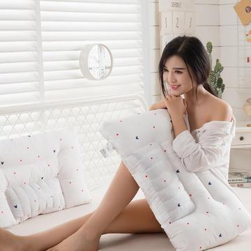 2018新款全棉护肤羽丝绒枕枕头枕芯  48*74 米奇清新枕低枕