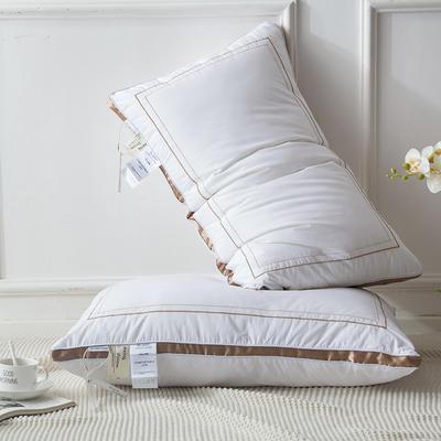 2018新款星级酒店羽丝绒枕枕芯枕头 48*74 金色
