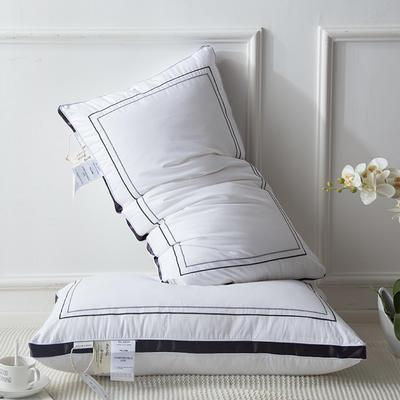 2018新款星级酒店羽丝绒枕枕芯枕头 48*74 灰色
