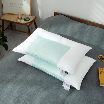 2020新款天丝舒柔枕头枕芯 48*74cm蓝色