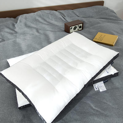 2020新款荞麦两用枕头枕芯 48*74cm灰色