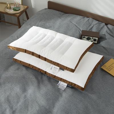 2020新款荞麦两用枕头枕芯 48*74cm咖色