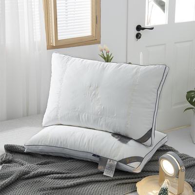 2020新款蚕蛹蛋白羽丝绒枕头枕芯 48*74cm白