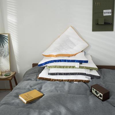 2020新款荞麦两用枕头枕芯 48*74cm墨绿色