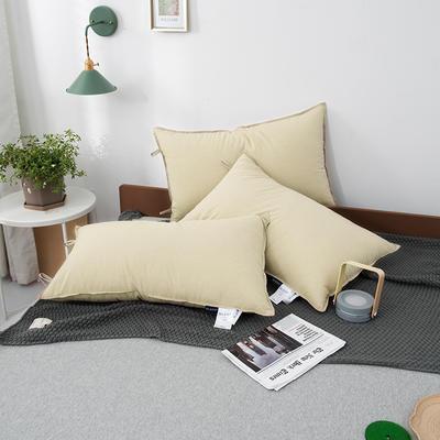 2020新款无印水洗棉羽丝绒极简舒适枕枕头枕芯 48*74cm米色
