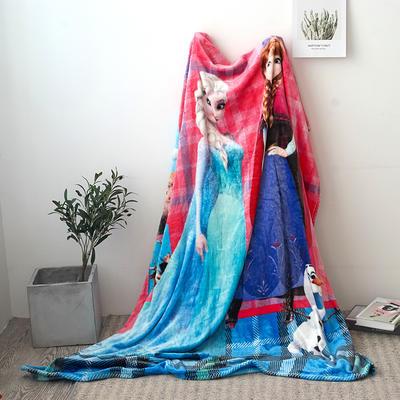 法兰绒拉毛数码印花毯 1.5m*2.0 4
