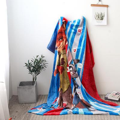 法兰绒拉毛数码印花毯 1.5m*2.0 5
