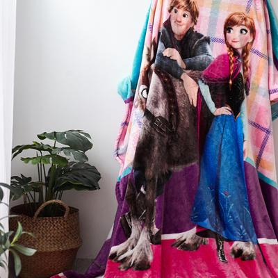 法兰绒拉毛数码印花毯 1.5m*2.0 9