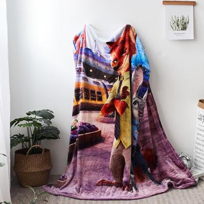 法兰绒拉毛数码印花毯 1.5m*2.0 10