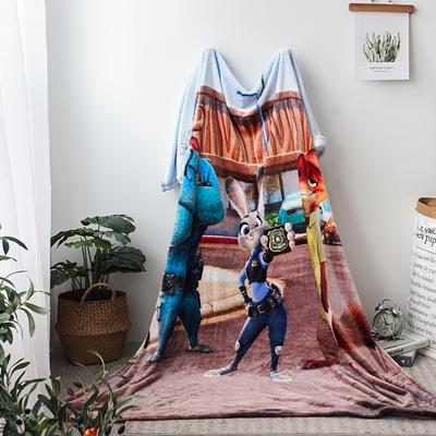 法兰绒拉毛数码印花毯 1.5m*2.0 11
