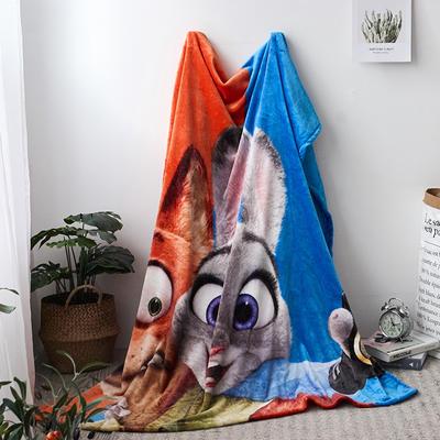 法兰绒拉毛数码印花毯 1.5m*2.0 12