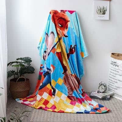 法兰绒拉毛数码印花毯 1.5m*2.0 14