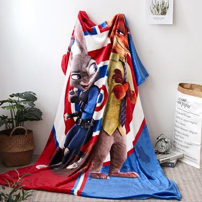 法兰绒拉毛数码印花毯 1.5m*2.0 18