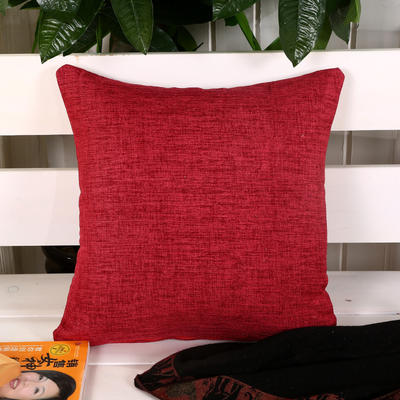 加厚麻布沙发靠枕(红色) 45*45含芯 红色