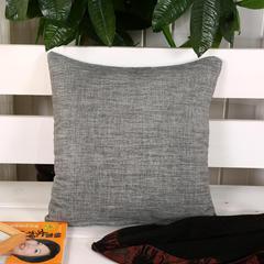 加厚麻布沙发靠枕(灰白) 45*45含芯 灰白
